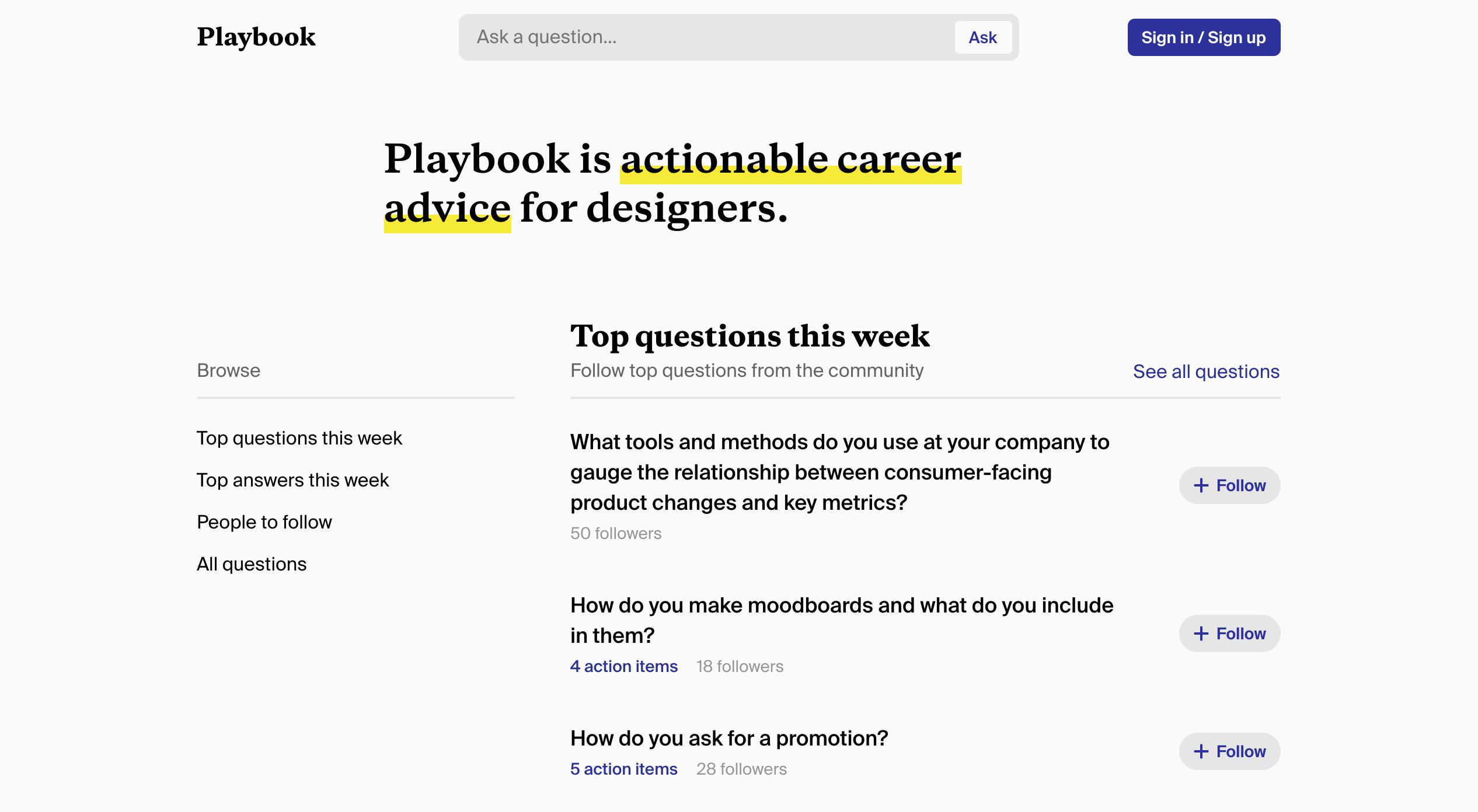 Ask Playbook